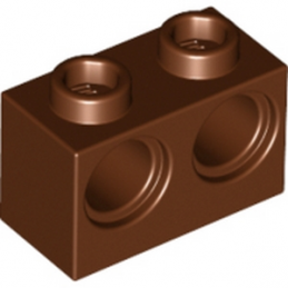 LEGO 6151461 BRIQUE 1X2 M. 2 HOLES Ø 4,87 - REDDISH BROWN
