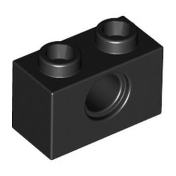 LEGO 370026  TECHNIC BRIQUE 1X2, Ø4.9 - NOIR lego-370026-technic-brique-1x2-o49-noir ici :