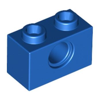 LEGO 370023  TECHNIC BRIQUE 1X2, Ø4.9 - BLEU