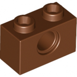 LEGO 4211252  TECHNIC BRIQUE 1X2, Ø4.9 - REDDISH BROWN