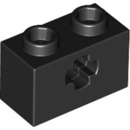 LEGO 4114294  BRIQUE 1X2 WITH CROSS HOLE - NOIR lego-6178922-brique-1x2-with-cross-hole-noir ici :