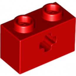 LEGO 4142869 BRIQUE 1X2 WITH CROSS HOLE - ROUGE