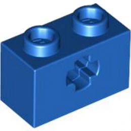 LEGO 4112930 BRIQUE 1X2 WITH CROSS HOLE - BLEU