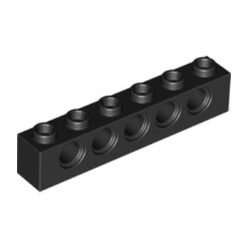 LEGO 389426 TECHNIC BRIQUE 1X6, Ø4,9 - NOIR lego-389426-technic-brique-1x6-o49-noir ici :
