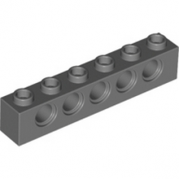 LEGO 4210917 TECHNIC BRIQUE 1X6, Ø4,9 - DARK STONE GREY