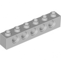 LEGO 4211466 TECHNIC BRIQUE 1X6, Ø4,9 - MEDIUM STONE GREY