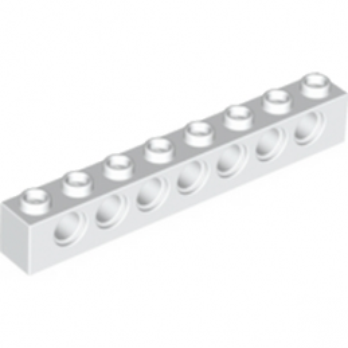 LEGO 370201  TECHNIC BRIQUE 1X8 - BLANC