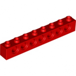 LEGO 370221  TECHNIC BRIQUE 1X8 - ROUGE