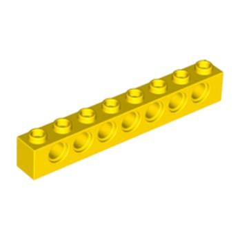 LEGO 370224 TECHNIC BRIQUE 1X8 - JAUNE