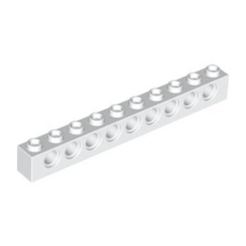 LEGO 273001 TECHNIC BRIQUE 1X10 Ø4.9 - BLANC