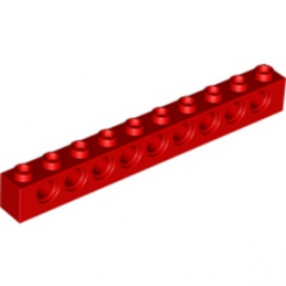 LEGO 273021 TECHNIC BRIQUE 1X10 Ø4.9 - ROUGE