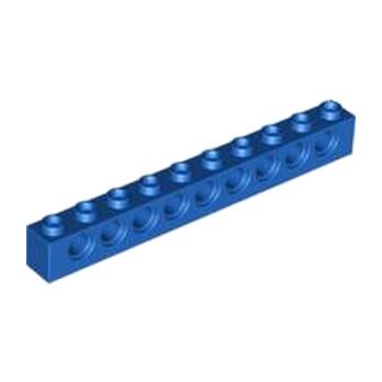 LEGO 273023 TECHNIC BRIQUE 1X10 Ø4.9 - BLEU