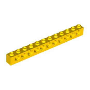 LEGO 389524  TECHNIC BRIQUE 1X12, Ø4,9 - JAUNE