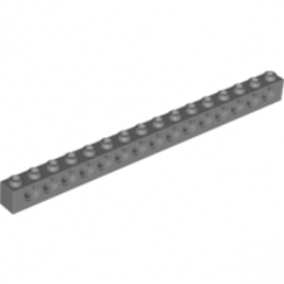 LEGO 4256828 TECHNIC BRIQUE 1X16, Ø4,9 - DARK STONE GREY