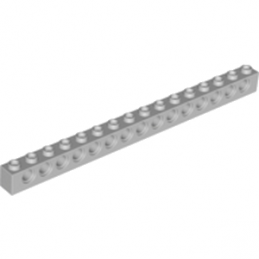 LEGO 4211443 TECHNIC BRIQUE 1X16, Ø4,9 - MEDIUM STONE GREY
