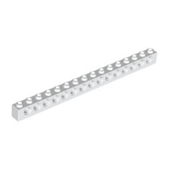 LEGO 370301 TECHNIC BRIQUE 1X16, Ø4,9 - BLANC