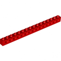 LEGO 370321 TECHNIC BRIQUE 1X16, Ø4,9 - ROUGE