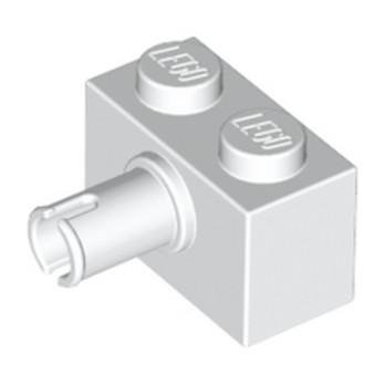 LEGO 245801 BRIQUE 1X2 W. HORIZONTAL SNAP - BLANC
