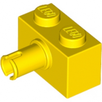 LEGO 245824 BRIQUE 1X2 W. HORIZONTAL SNAP - JAUNE