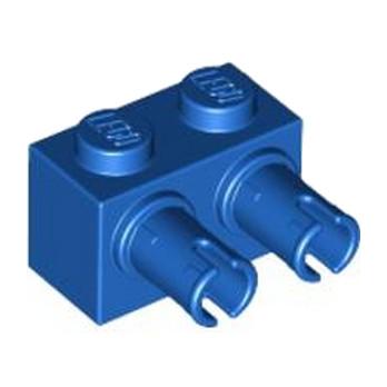 LEGO 4158266 BRIQUE 1X2 W. DOUBLE SNAP - BLEU
