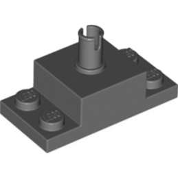 LEGO 4239373  PLATE 2X4/2X2X1 W. VERTICAL SN - DARK STONE GREY