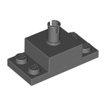 LEGO 6301436 PLATE 2X4/2X2X1 W. VERTICAL SN - DARK STONE GREY lego-6301436-plate-2x42x2x1-w-vertical-sn-dark-stone-grey ici :