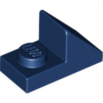 LEGO 6186683 TUILE 1X2 45° W 1/3 PLATE - EARTH BLUE