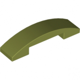 LEGO 6016482 PLATE W. BOW 1X4X2/3 - OLIVE GREEN