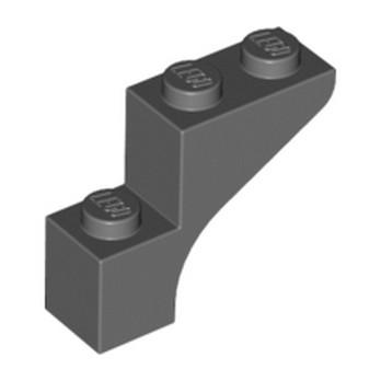 LEGO 6186635 BRICK WITH BOW 1X3X2 - DARK STONE GREY