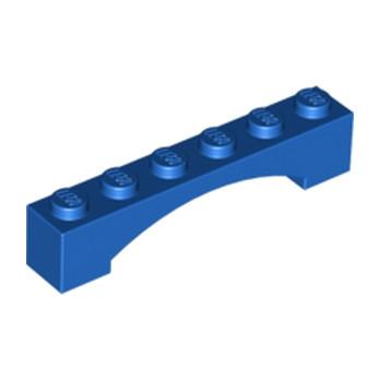 LEGO 6133607 BRIQUE 1X6 W/INSIDE BOW - BLEU