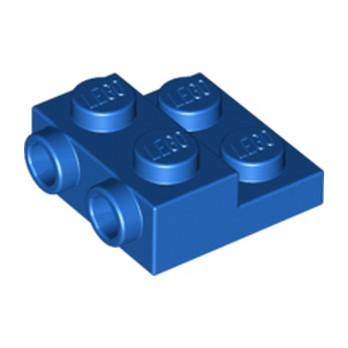 LEGO 6116797 - PLATE 2X2X2/3 W. 2. HOR. KNOB - BLEU
