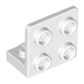 LEGO 6097637 ANGULAR PLATE 1.5 BOT. 1X2 2/2 - BLANC