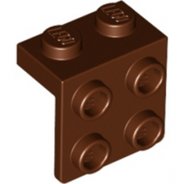 LEGO 6117976 ANGLE PLATE 1X2 / 2X2 - REDDISH BROWN