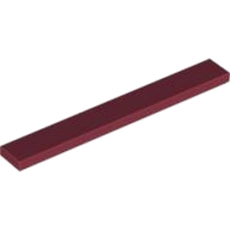 LEGO 4261701 PLATE LISSE 1X8 - New Dark Red