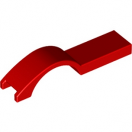 LEGO 6094020 COVER PLATE W. CURVE 1 X 4.5 - ROUGE