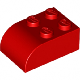 LEGO 621521 BRIQUE 2X3 DOME - ROUGE