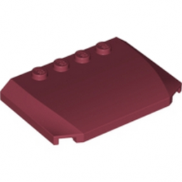 LEGO 4650155 CAPOT 4X6X2/3 - NEW DARK RED