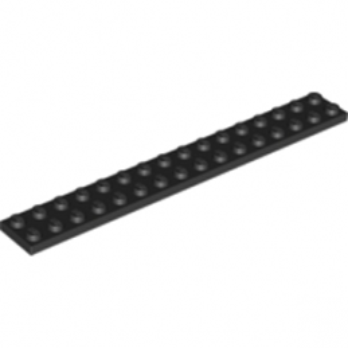 LEGO 428226 PLATE 2X16 - NOIR