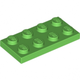 LEGO 6141590 PLATE 2X4 - BRIGHT GREEN