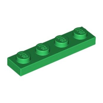 LEGO 371028 PLATE 1X4 - DARK GREEN