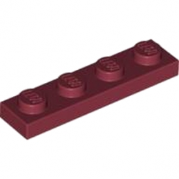 LEGO 4164219 PLATE 1X4 - NEW DARK RED
