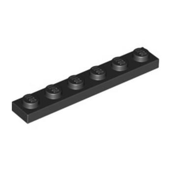 LEGO 366626  PLATE 1X6 - NOIR