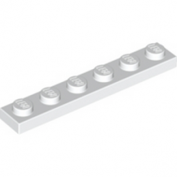 LEO 366601 PLATE 1X6 - BLANC