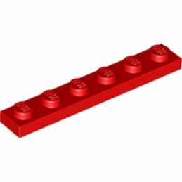 LEGO 366621 PLATE 1X6 - ROUGE lego-366621-plate-1x6-rouge ici :