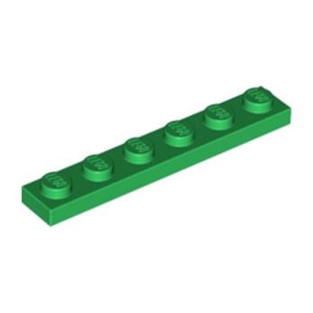 LEGO 366628 PLATE 1X6 - DARK GREEN