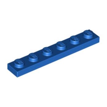 LEGO 366623  PLATE 1X6 - BLEU