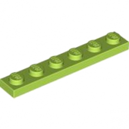LEGO 4122442  PLATE 1X6 - BRIGHT YELLOWISH GREEN
