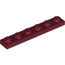 LEGO 4164108 PLATE 1X6 - NEW DARK RED