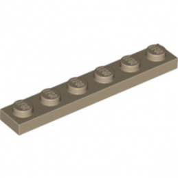 LEGO 6015424 PLATE 1X6 - SAND YELLOW