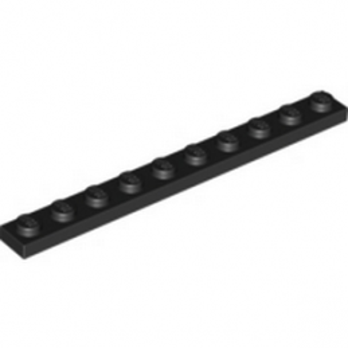 LEGO 447726 PLATE 1X10 - BLACK